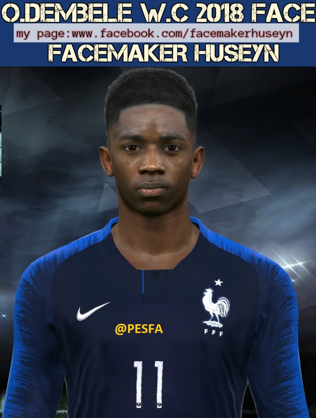 فیس Ousmane Dembele توسط Huseyn برای PES 2017