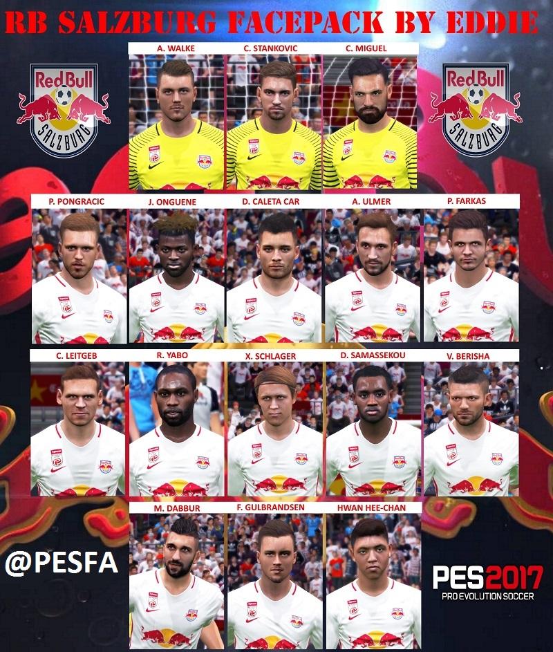 فیس پک Red Bull Salzburg توسط Eddie برای PES 2017