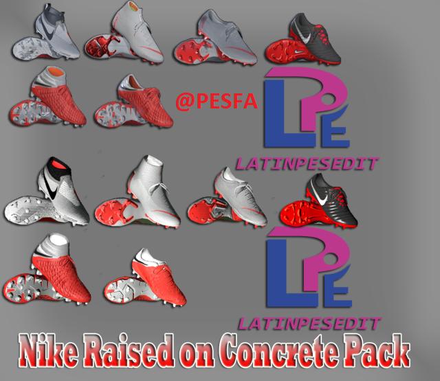 پک کفش Nike Raised on Concrete توسط LPE برای PES 2017/18