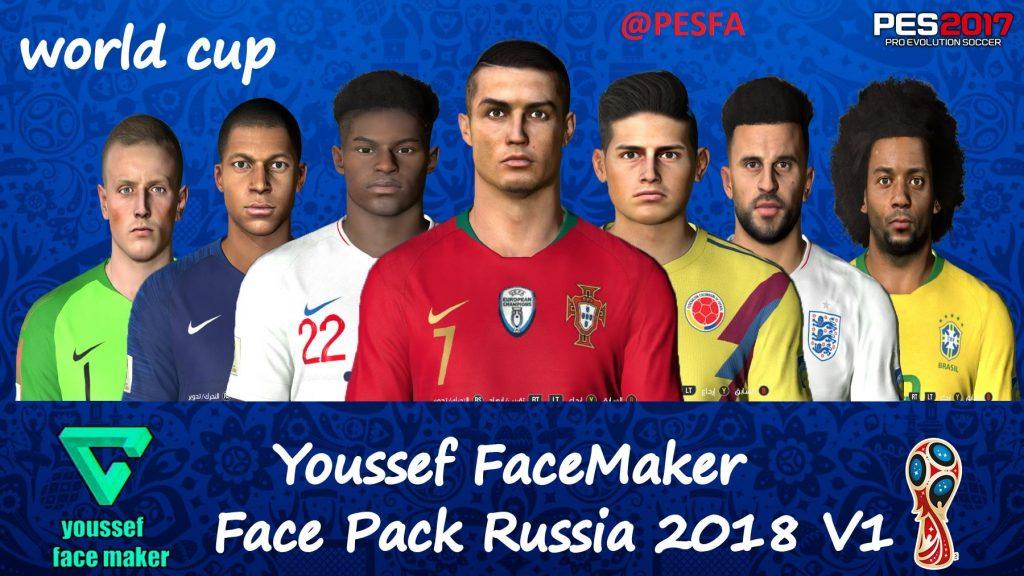 فیس پکRussia 2018 V1توسط Youssef برای PES 2017