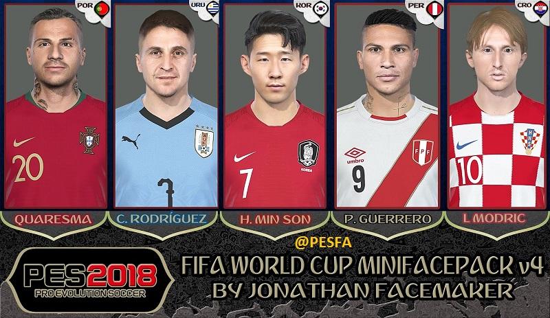 مینی فیس پک World Cup v4 توسط Jonathan برای PES 2018