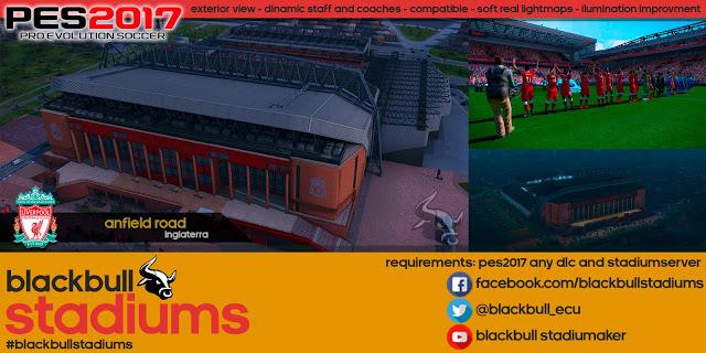 استادیومAnfieldتوسط BlackBull برای PES 2017
