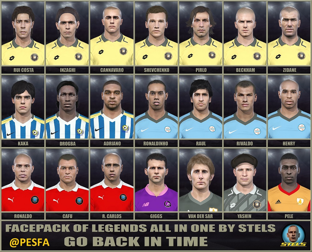 فیس پک Legends AIO توسط Stels برای PES 2018