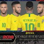فیس Neymar توسط Jonathan برای PES 2018