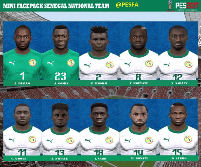 فیس پک Senegal توسط BAYU برای PES 2017
