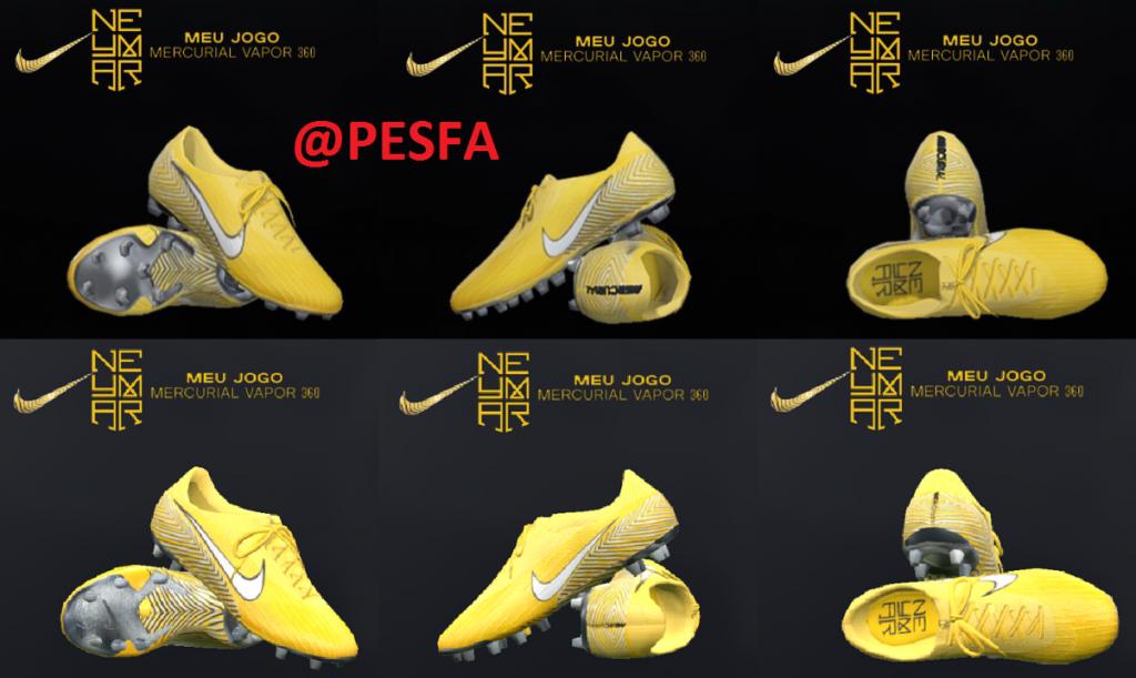 کفش Nike Mercurial Steam 360 Neymar توسط T09 برای PES 2017/18