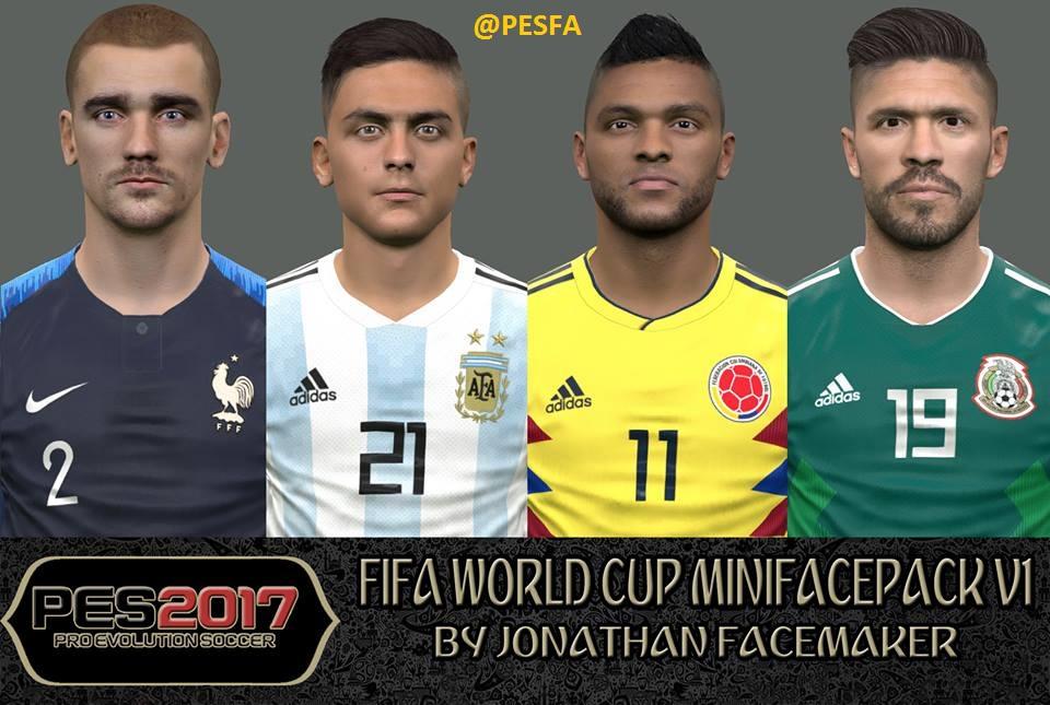 مینی فیس پک World Cup v1 توسط Jonathan برای PES 2017