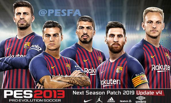 پچ Next Season 2018-2019 برای PES 2013 + آپدیت 4
