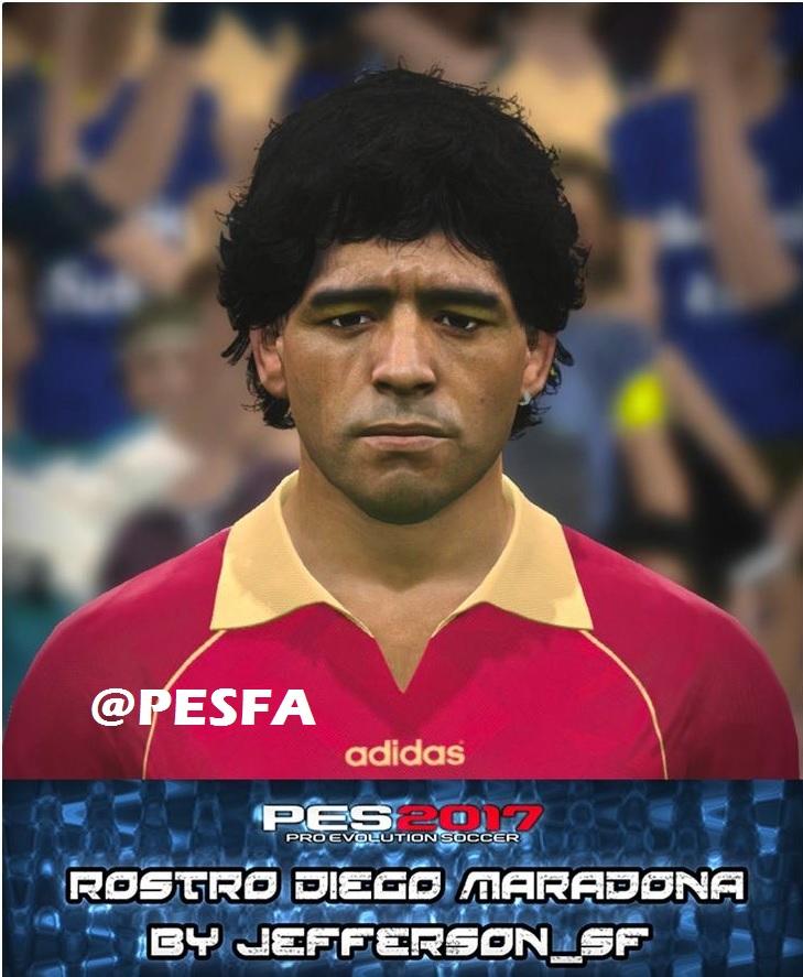 فیس Maradona توسط Jefferson برای PES 2017