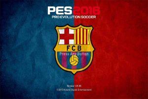 PES 2016 Barcelona Graphic Menu