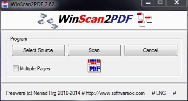 نرم افزار WinScan2PDF