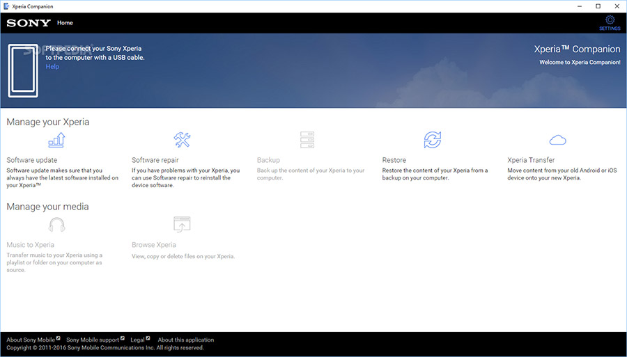 نرم افزار Sony Xperia Companion